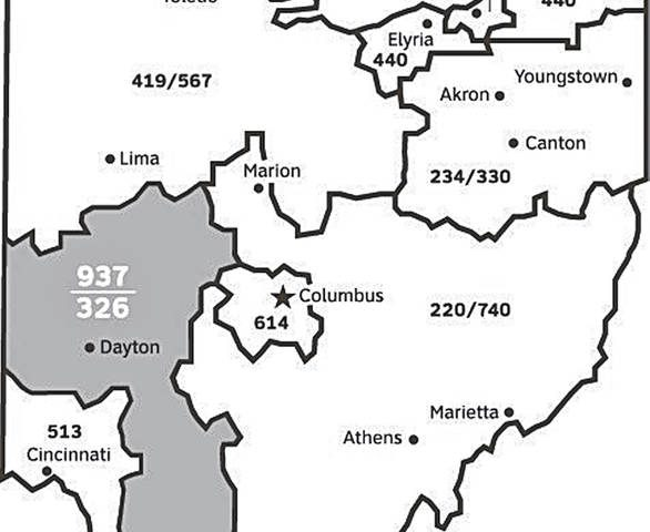 326 area code overlay approved for 937 area